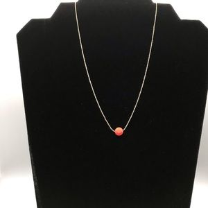 "New Gold Beaded 16"" Chain with Geometric Pendant"